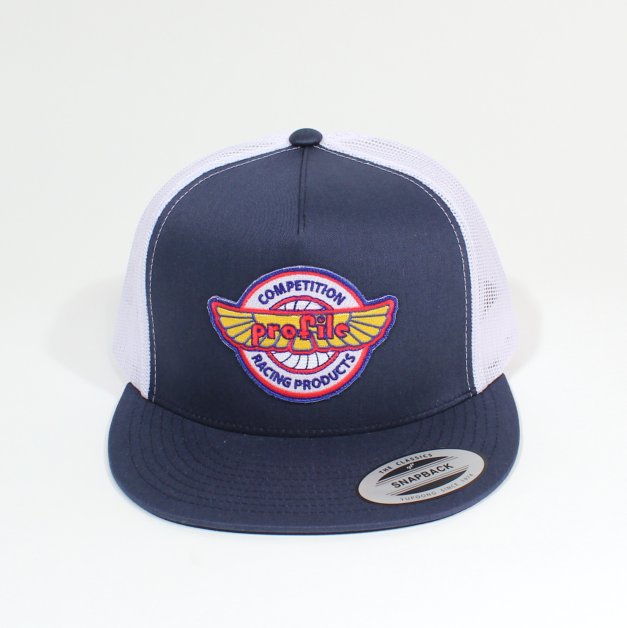 VINTAGE LOGO MESH TRUCKER HAT – Profile Racing a3d7030b24a9